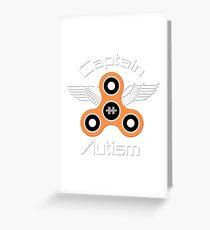 Captain autism saves the day - autism awareness Greeting Card