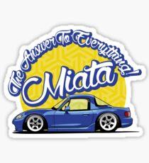 Miata - The Answer To Everything Sticker