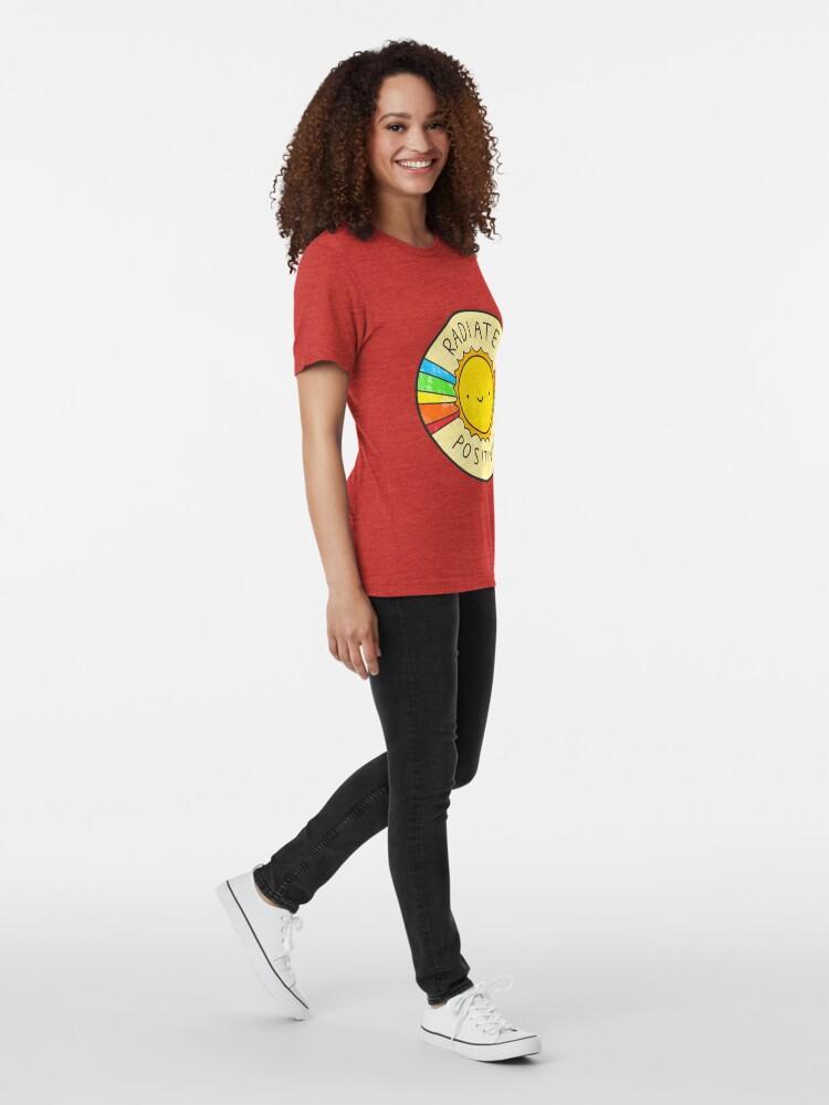 Alternate view of Radiate Positivity Tri-blend T-Shirt
