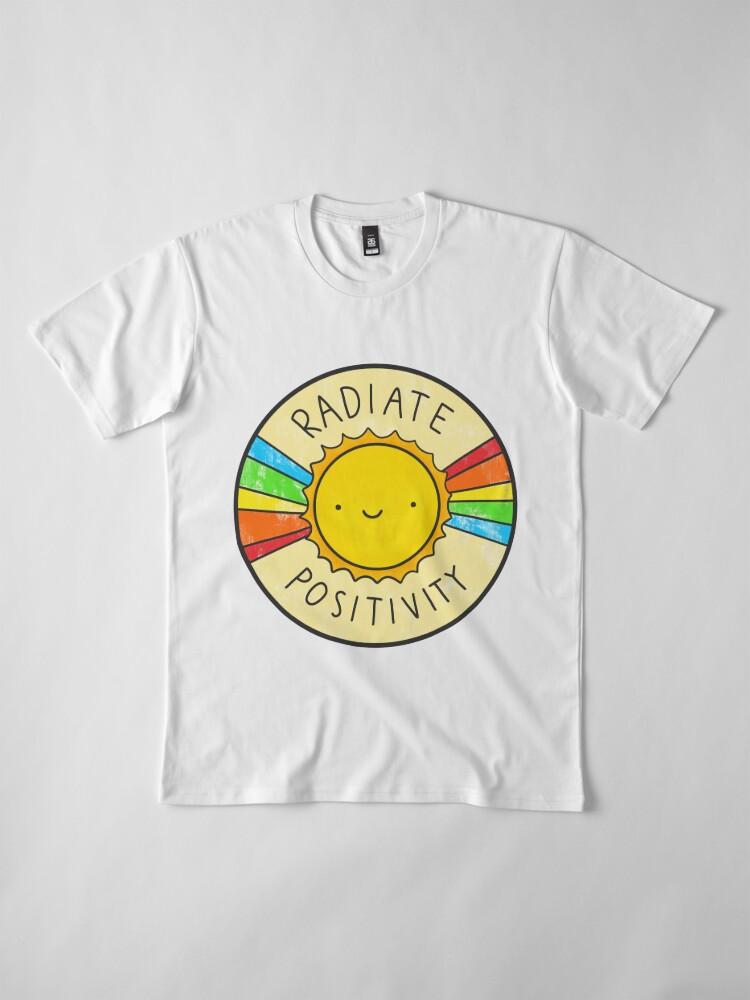 Alternate view of Radiate Positivity Premium T-Shirt