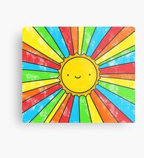 Radiate Positivity Metal Print