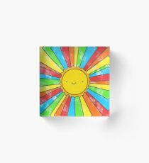 Radiate Positivity Acrylic Block