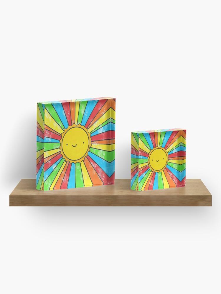 Alternate view of Radiate Positivity Acrylic Block