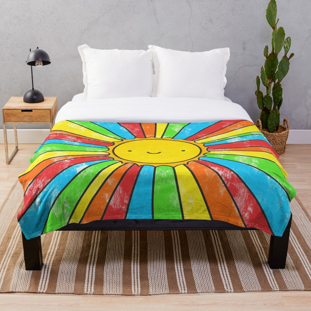 Radiate Positivity Throw Blanket