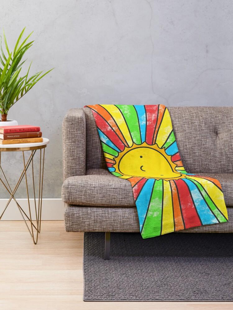 Alternate view of Radiate Positivity Throw Blanket