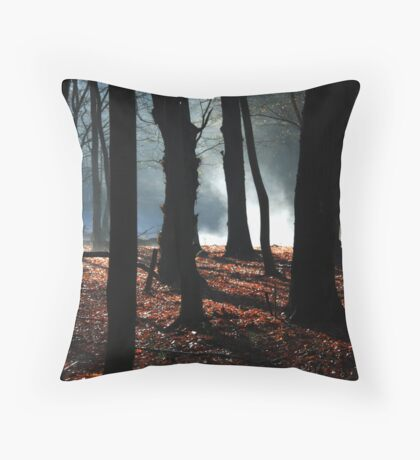 mystery in the woods Throw Pillow