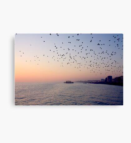 Sunset ~ Old Brighton Pier Canvas Print