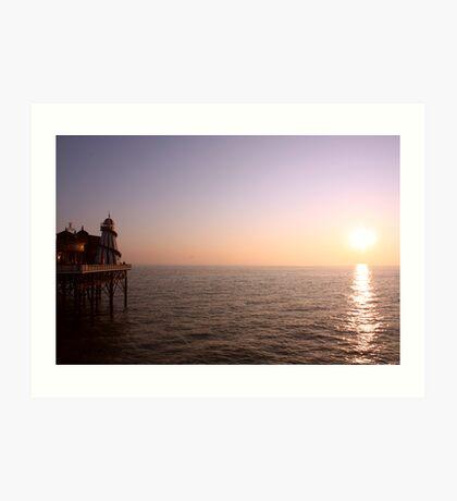 Sunset ~ New Brighton Pier Art Print