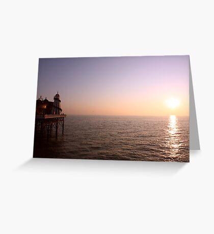 Sunset ~ New Brighton Pier Greeting Card