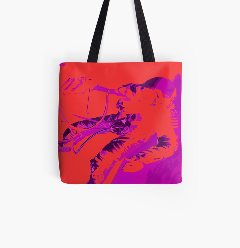 Space Series : Gemini EVA 1 Abstract Red [#2] All Over Print Tote Bag