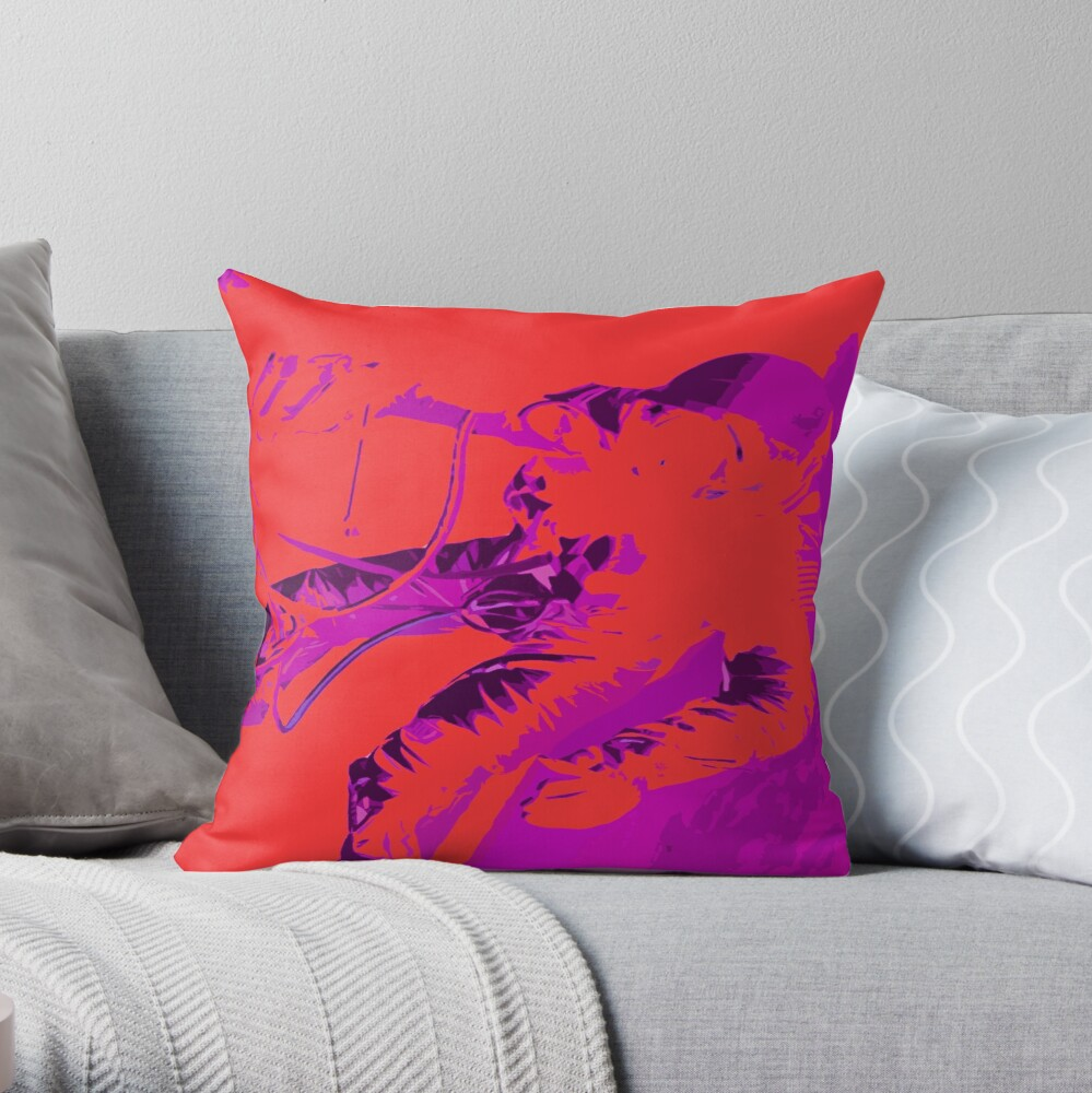 Space Series : Gemini EVA 1 Abstract Red [#2] Throw Pillow