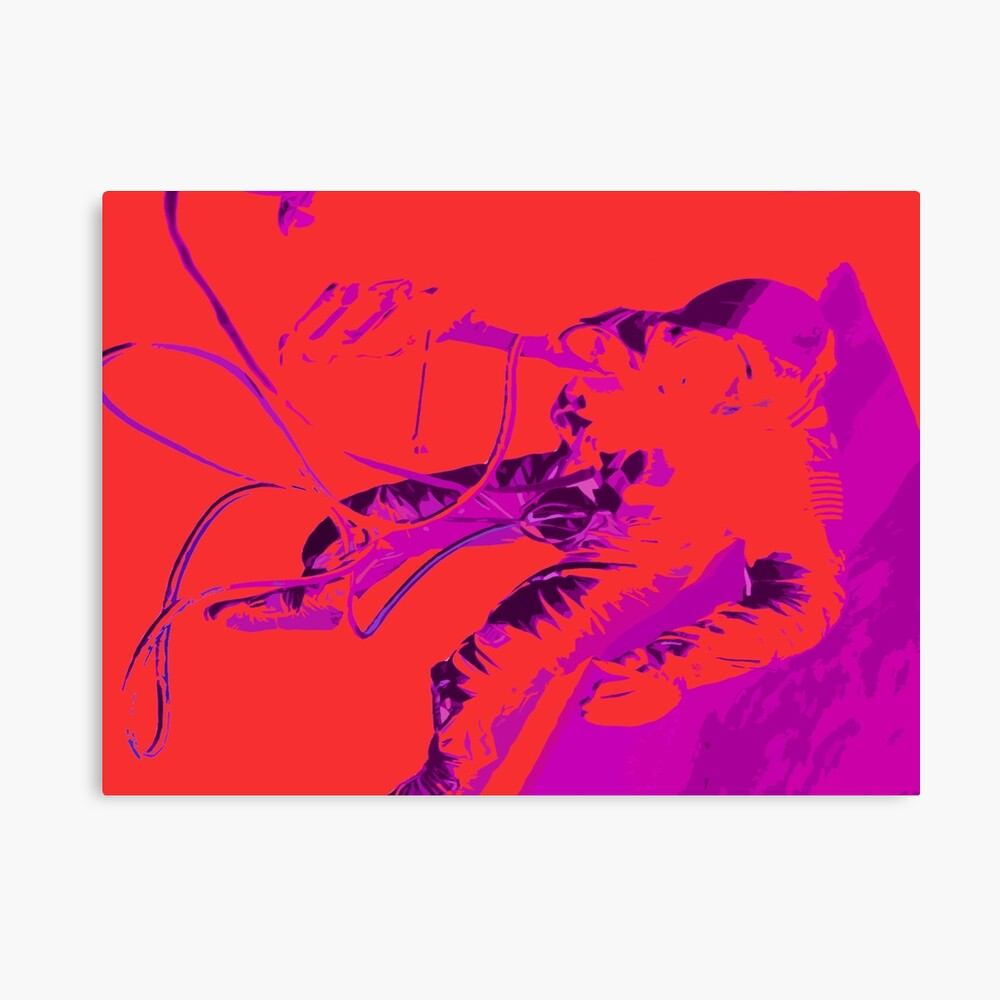 Space Series : Gemini EVA 1 Abstract Red [#2] Canvas Print