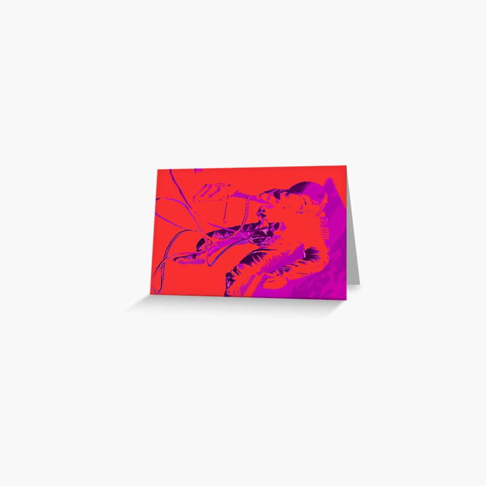 Space Series : Gemini EVA 1 Abstract Red [#2] Greeting Card