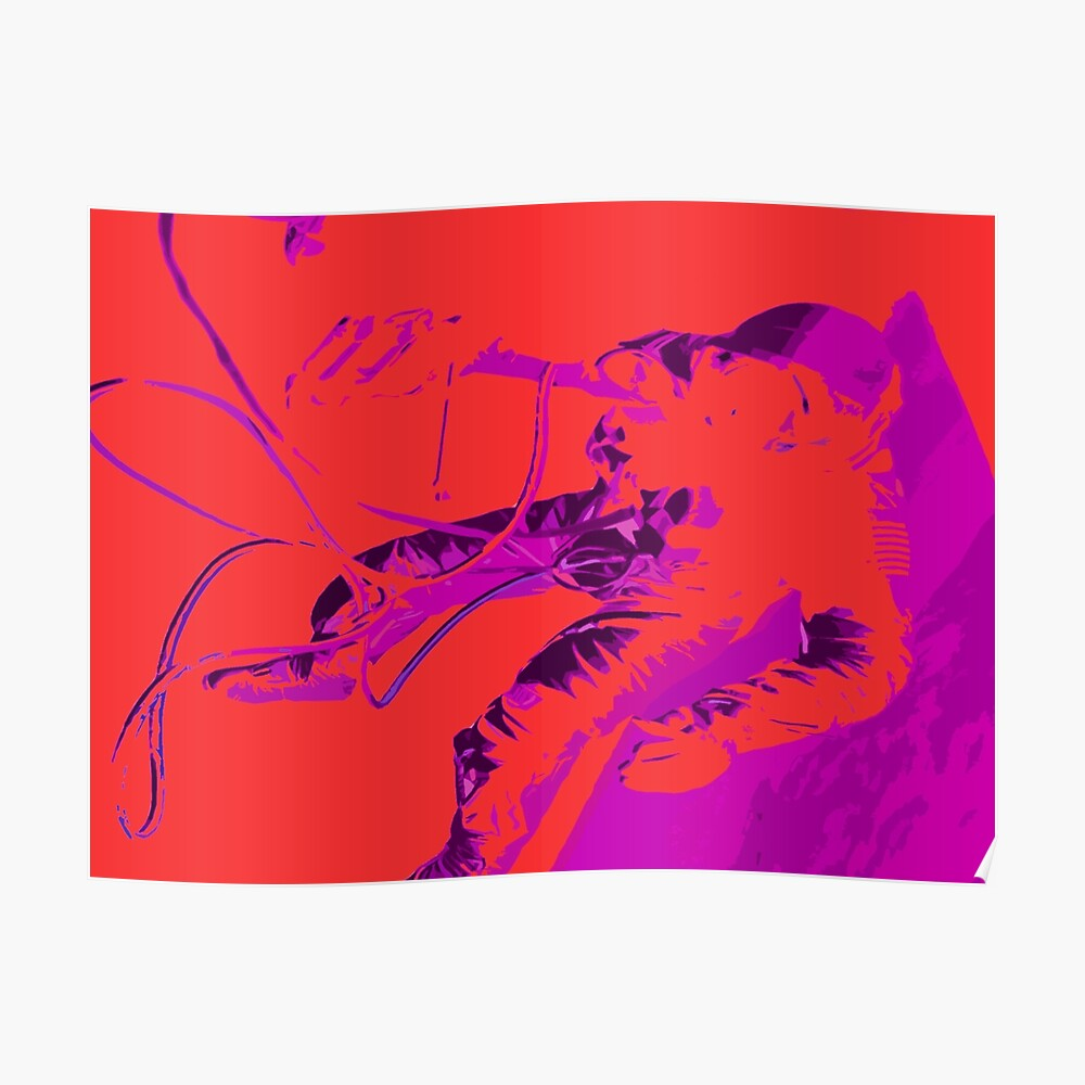 Space Series : Gemini EVA 1 Abstract Red [#2] Poster