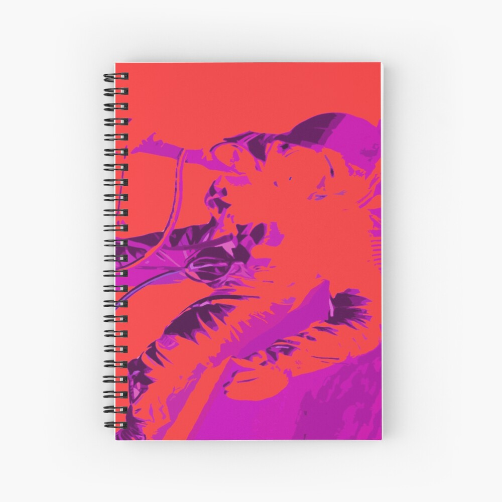 Space Series : Gemini EVA 1 Abstract Red [#2] Spiral Notebook