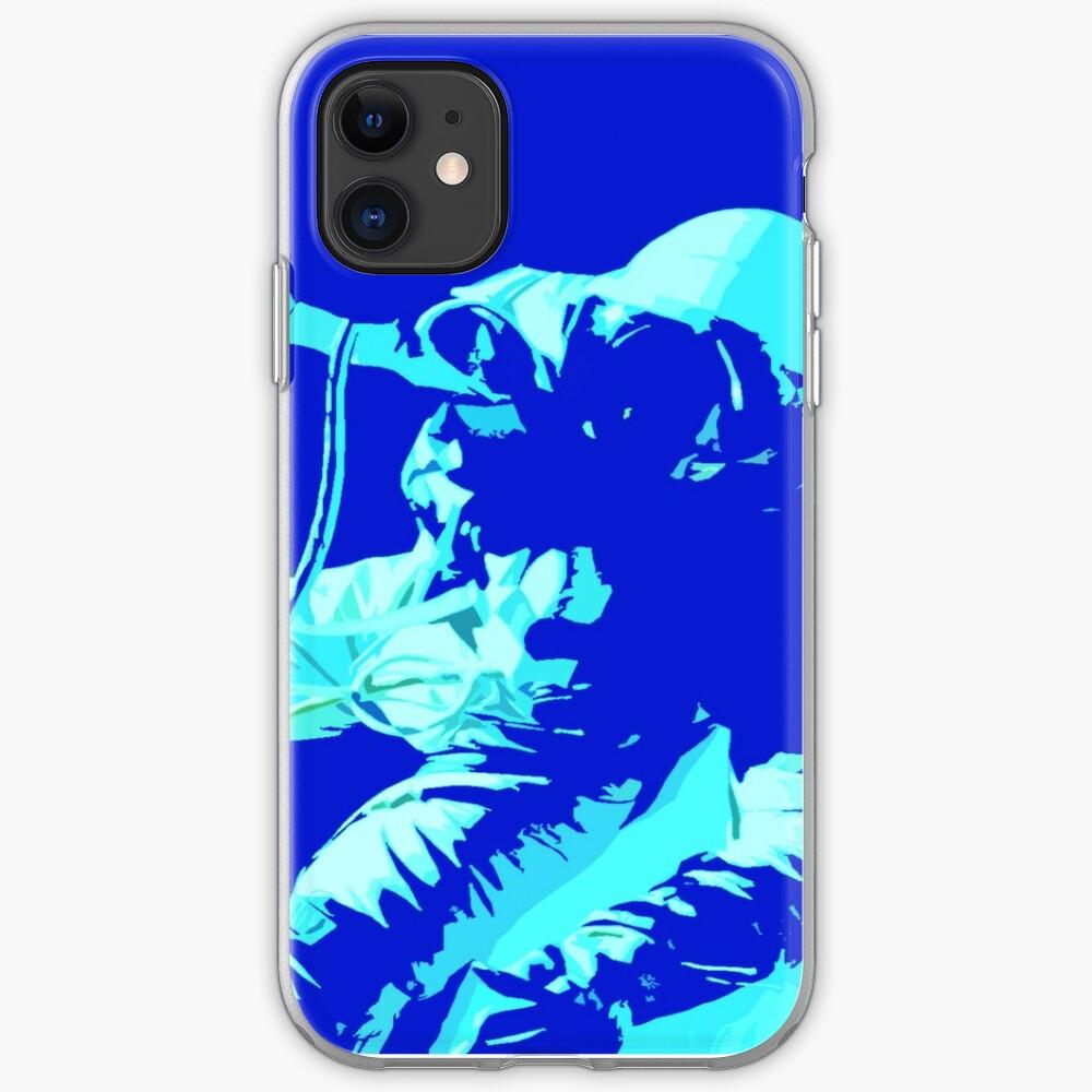 Space Series : Gemini EVA 1 Abstract Indigo[#2] iPhone Soft Case