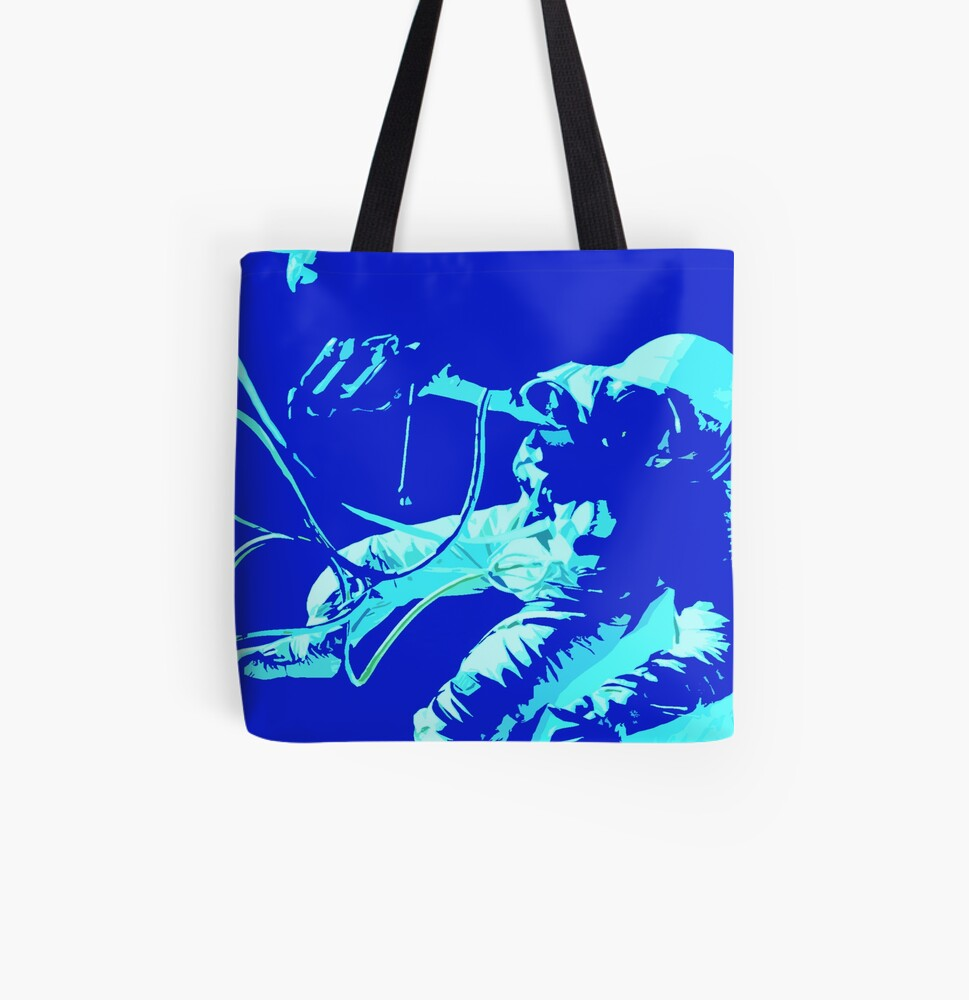 Space Series : Gemini EVA 1 Abstract Indigo[#2] All Over Print Tote Bag