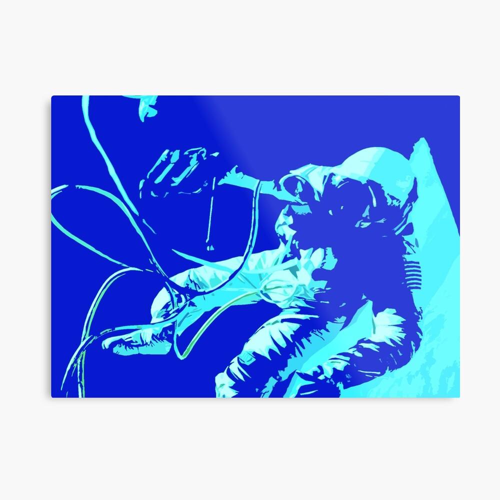 Space Series : Gemini EVA 1 Abstract Indigo[#2] Metal Print