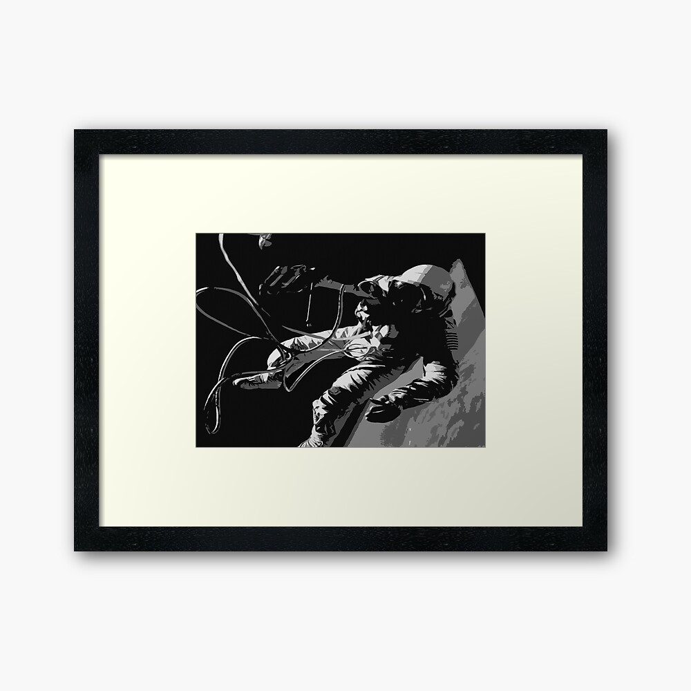 Space Series : Gemini EVA 1 Abstract Black [#1] Framed Art Print