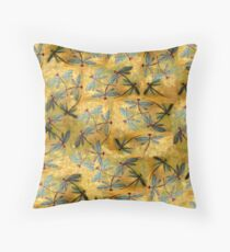 Dragonfly Haze Cloud Throw Pillow