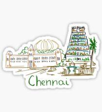 Chennai Madras Panorama Sticker