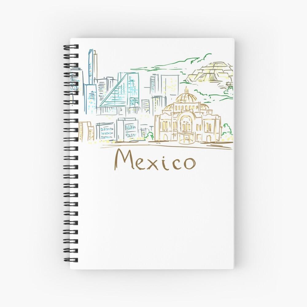 Panorama de la ciudad de México en la noche Cuaderno de espiral