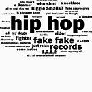 Hip Hop Lyrics Word Cloud by thehiphopshop