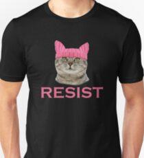 Resist Persist Pussy Cat Hat Women's March Unisex T-Shirt