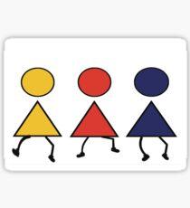3 girls Sticker