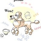 Funny Poodle Dog Sketch by Natalia Piache
