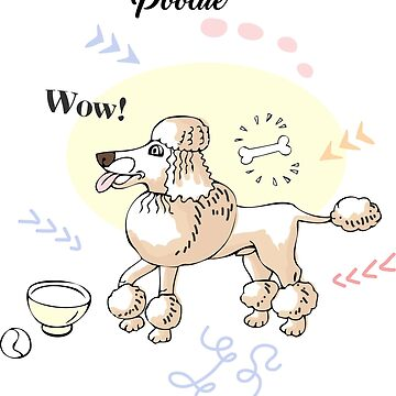 Funny Poodle Dog Sketch by piacheva