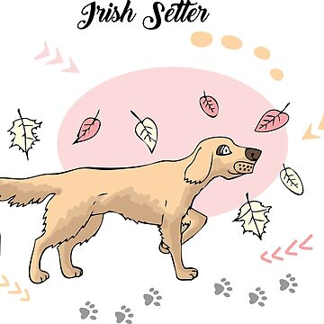 Funny Irish Setter Sketch by piacheva