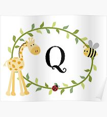 Nursery Letters Q Poster