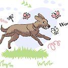 Funny Dog Sketch by Natalia Piache