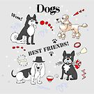 Funny Dogs Sketch by Natalia Piache