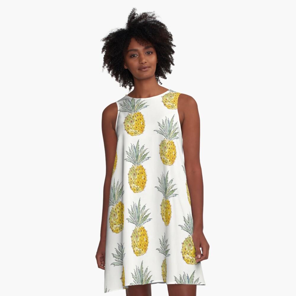 Pineapple pleasure A-Line Dress Front