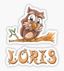 Loris Owl Sticker