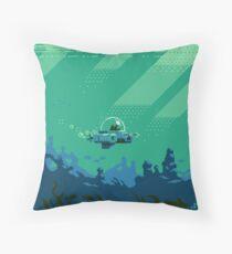Cat Fishin' Throw Pillow