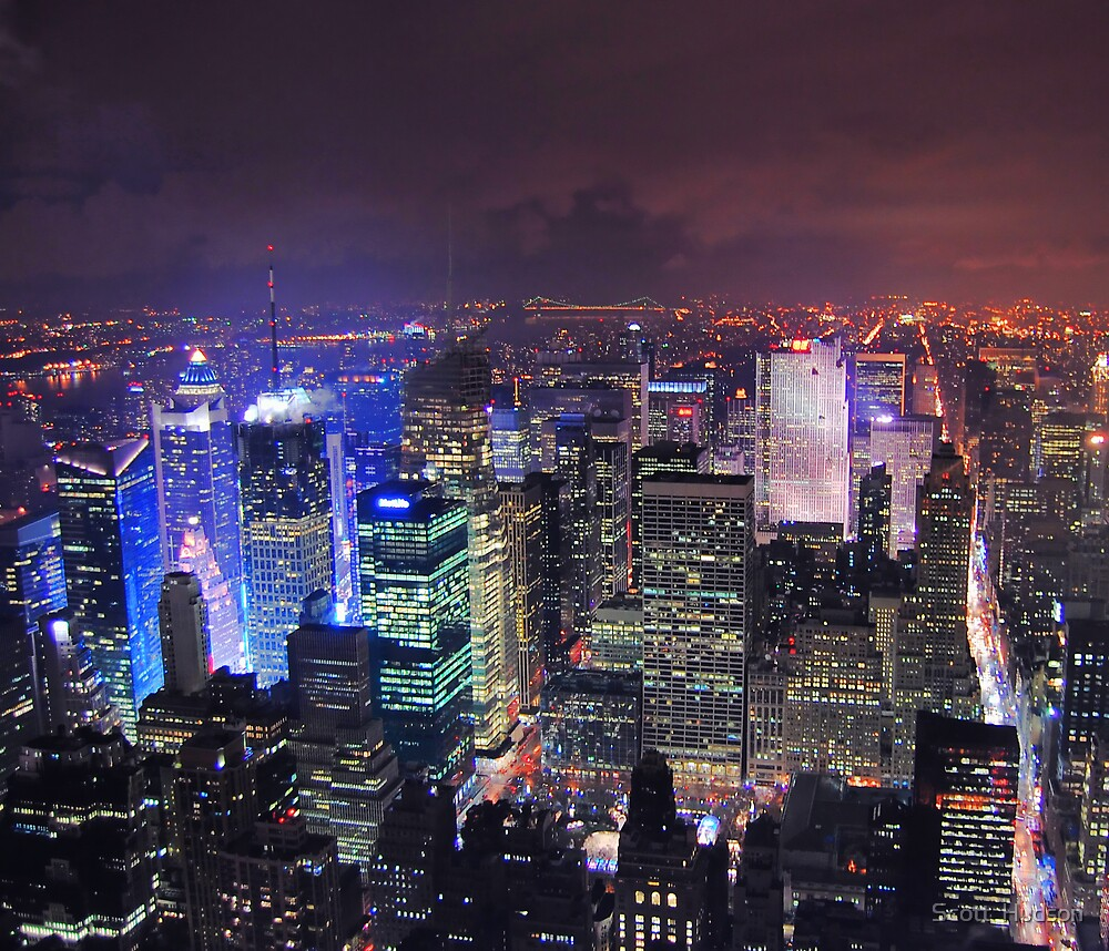 Times Square Is Glowing by Scott  Hudson