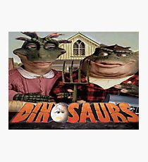 Dinosaur Farmers Photographic Print