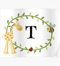 Nursery Letters T Poster