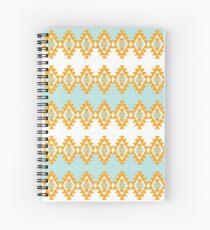 Cuaderno de espiral Naranja y turquesa