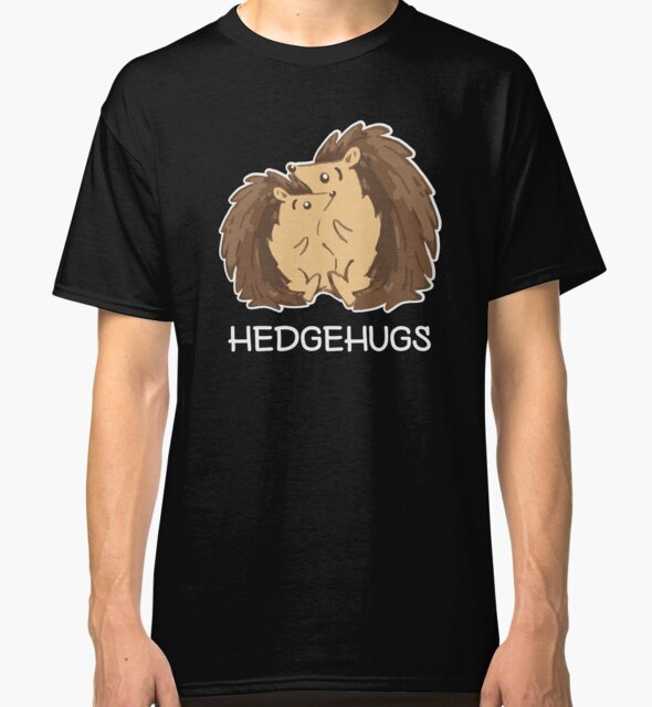 Hedgehugs. Cute Hedgegog Lovers Shirt for Valentines Day by teemaniac