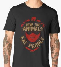save the animals, EAT PEOPLE Men's Premium T-Shirt