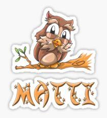 Matti Owl Sticker