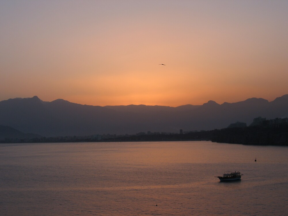Antalya Harbour at dawn by mypics4u