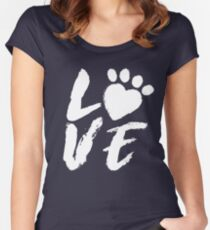 I love Pets! Dog Lover and Cat Lover Love Shirt & Gift Women's Fitted Scoop T-Shirt