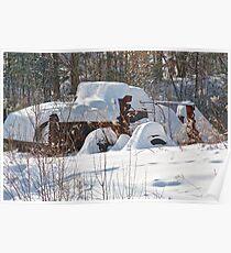 Retired Plow Truck Poster