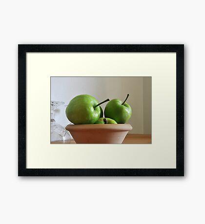 Little Green Apples Framed Print