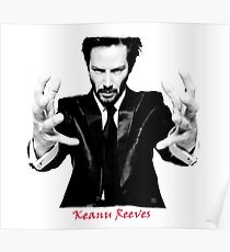 Keanu Reeves the Actor (Black and White) Poster